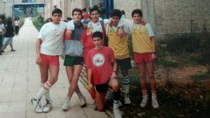 Jugones del campus de baloncesto celebrado en Astillero (Cantabria) en 1988.