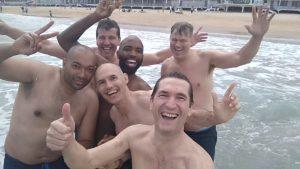 Baño en la Playa del Sardinero. MBCA Amstelveen.