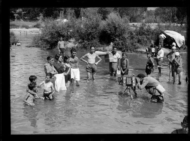 Fotógrafo en el río Manzanares