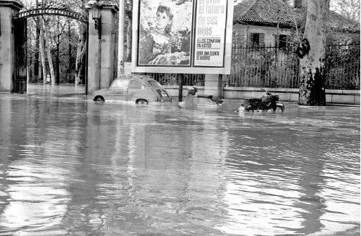 Entrada Casa de Campo. 1966. Inundaciones