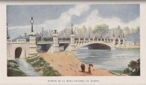 Puente Reina Victoria según dibujo del catálogo de José Eugenio Ribera. 1910.